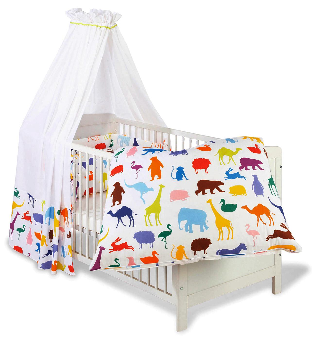 betthimmel und nestchen happy zoo bunte tiermotive. Black Bedroom Furniture Sets. Home Design Ideas