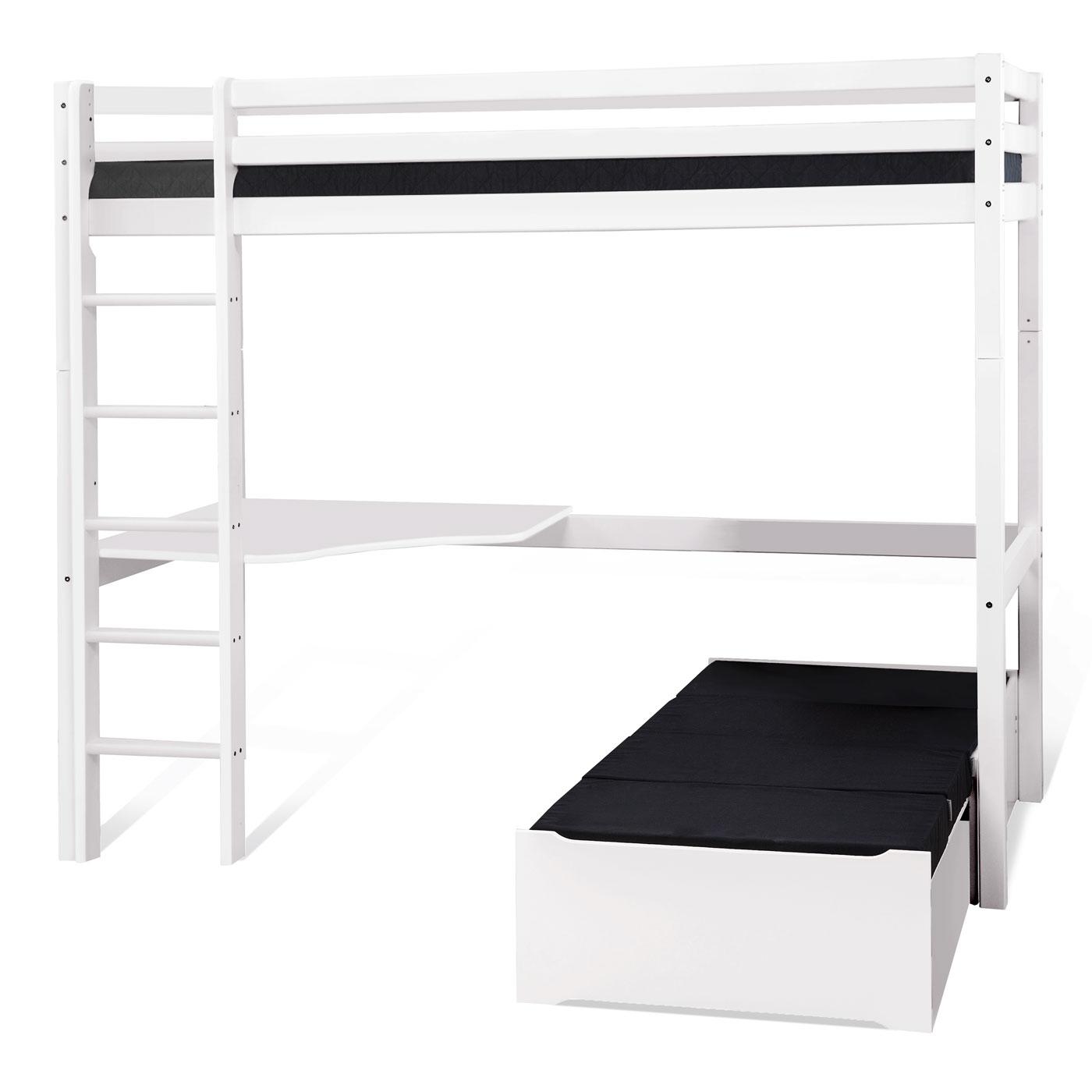 hochbett mit schreibtisch und couch kids heaven mit loungeecke. Black Bedroom Furniture Sets. Home Design Ideas