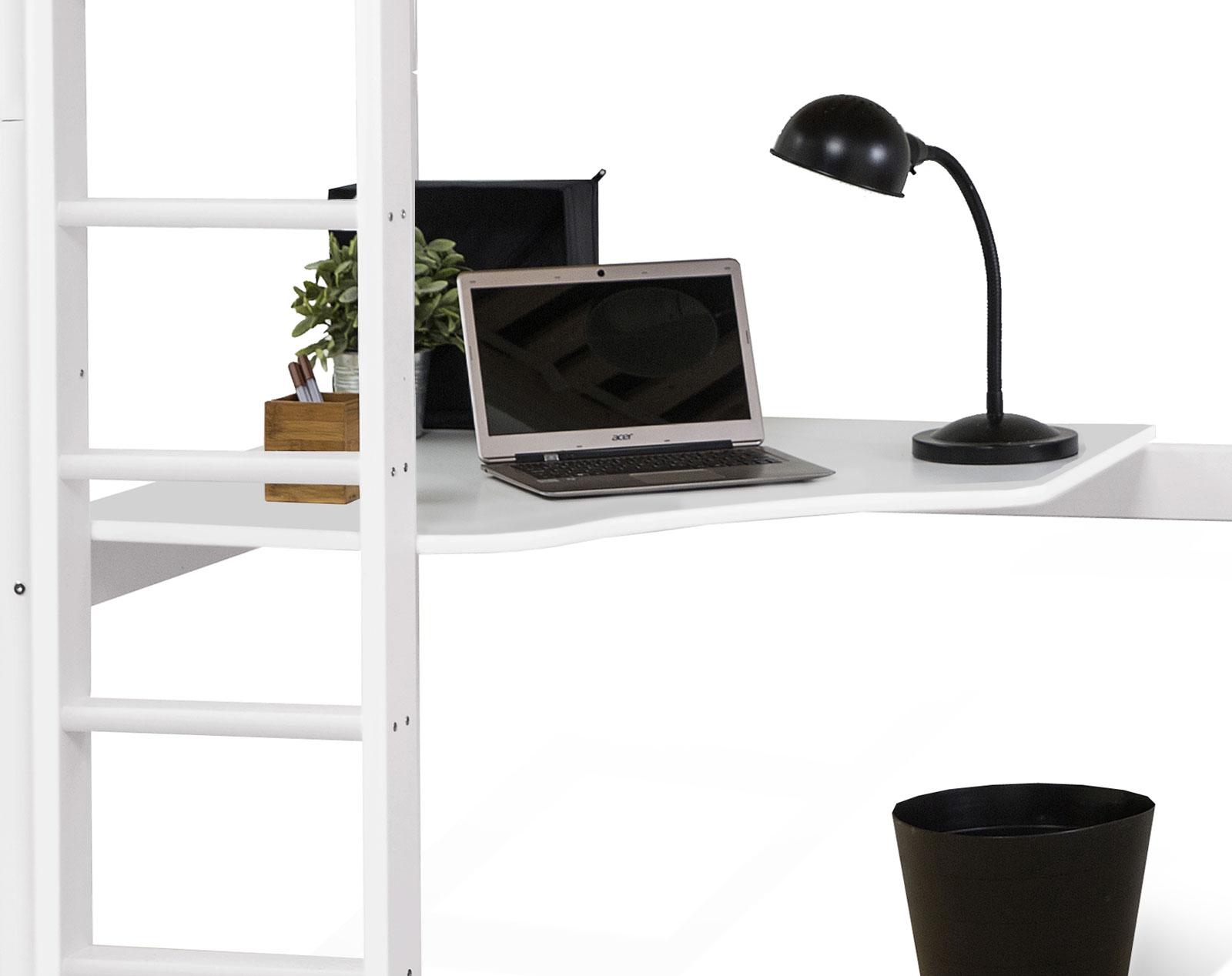 Der Gerundete Eck Schreibtisch Bietet Eine Arbeitsfläche In Angenehmer Höhe.