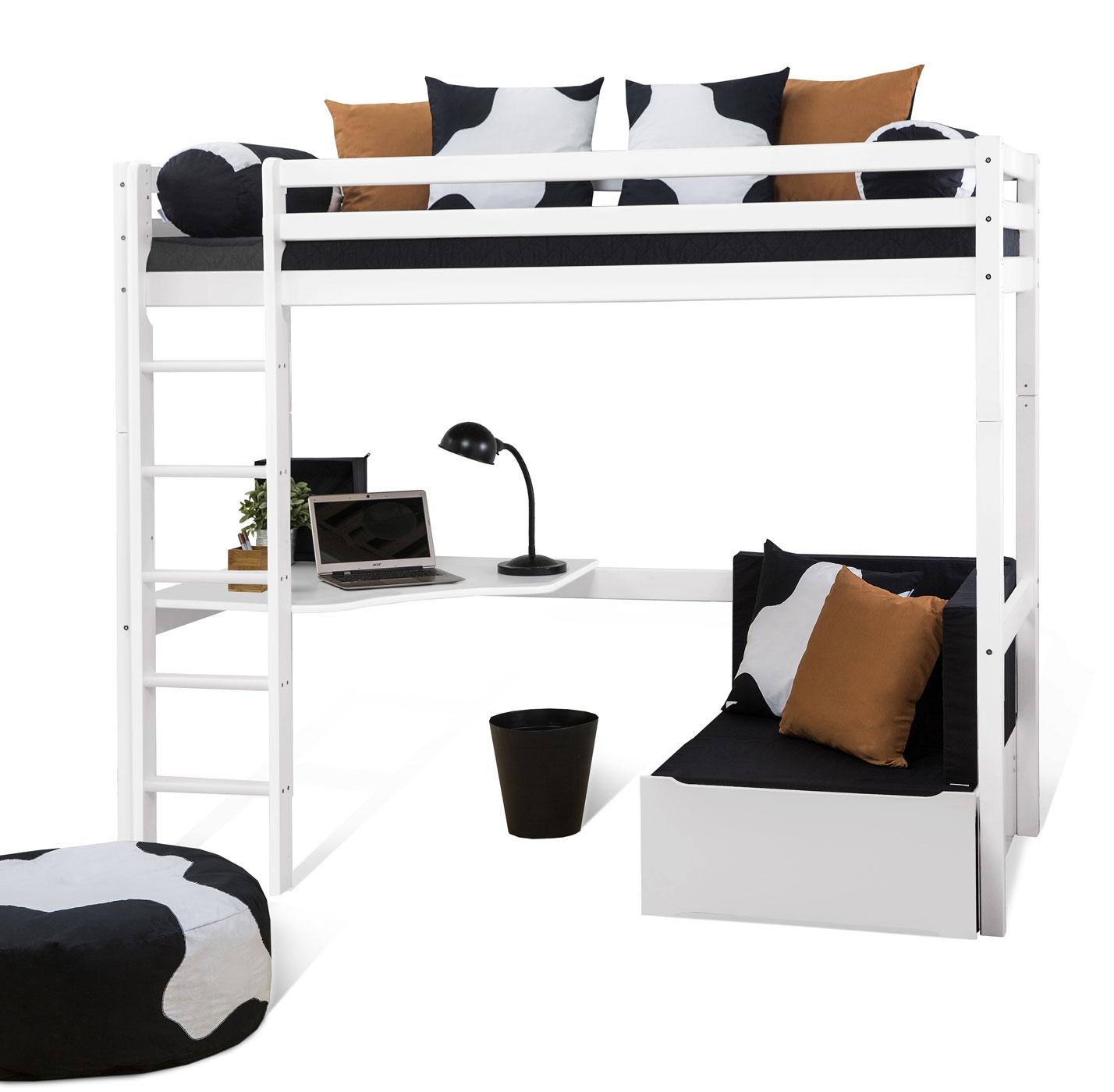 hochbett mit schreibtisch und couch kids heaven mit. Black Bedroom Furniture Sets. Home Design Ideas