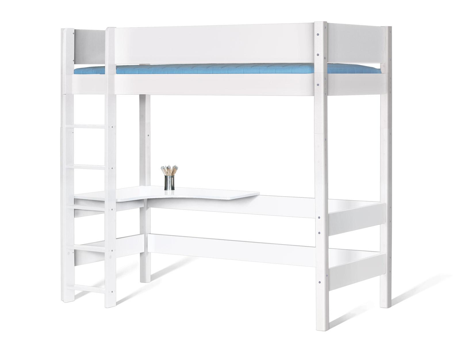 farbiges hochbett wahlweise mit schreibtisch kids town. Black Bedroom Furniture Sets. Home Design Ideas