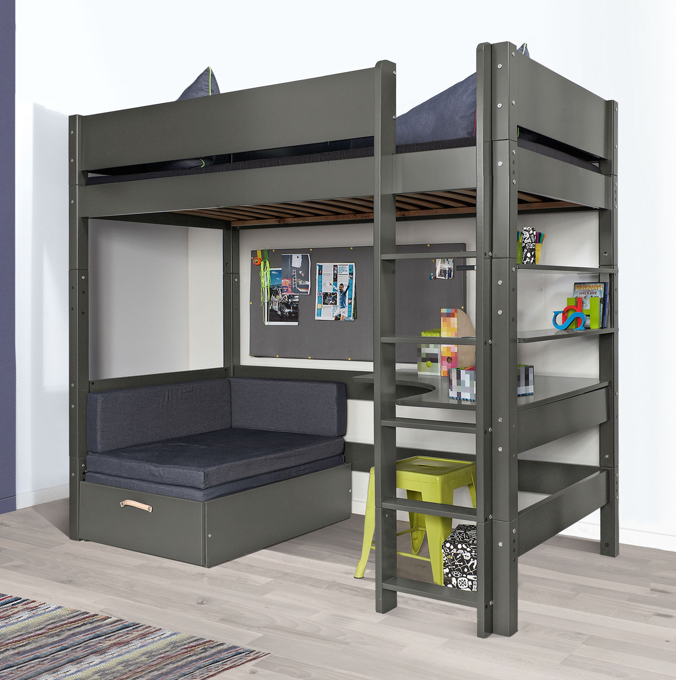 ikea jugendzimmer mit hochbett. Black Bedroom Furniture Sets. Home Design Ideas