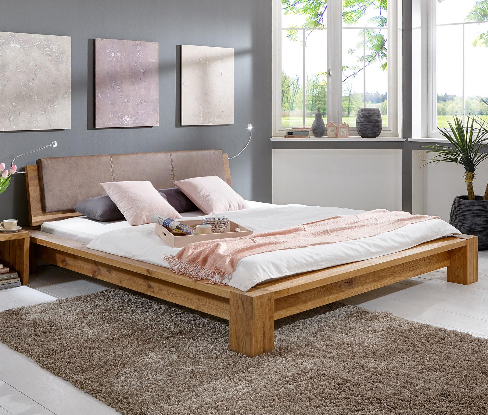 massivholz bett aus ge lter wildeiche z b 180x200 domingo. Black Bedroom Furniture Sets. Home Design Ideas
