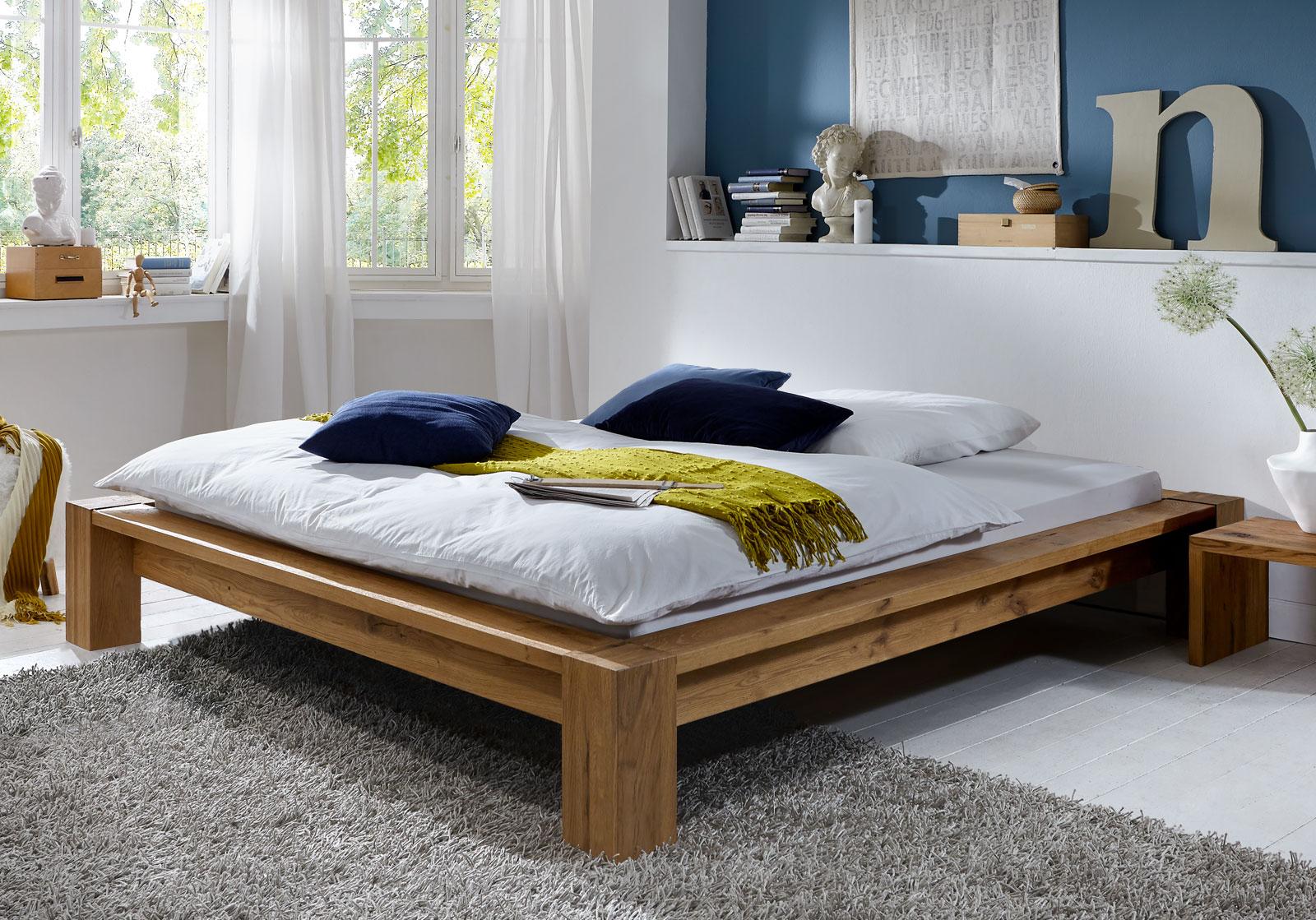 liege aus massiver wildeiche z b in 180x200 cm alento. Black Bedroom Furniture Sets. Home Design Ideas