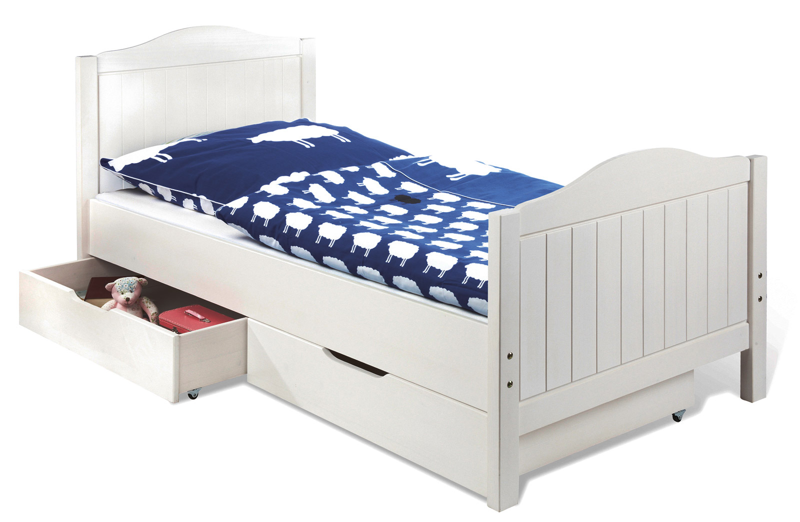 wei es kinder und jugendbett im landhaus stil nina. Black Bedroom Furniture Sets. Home Design Ideas