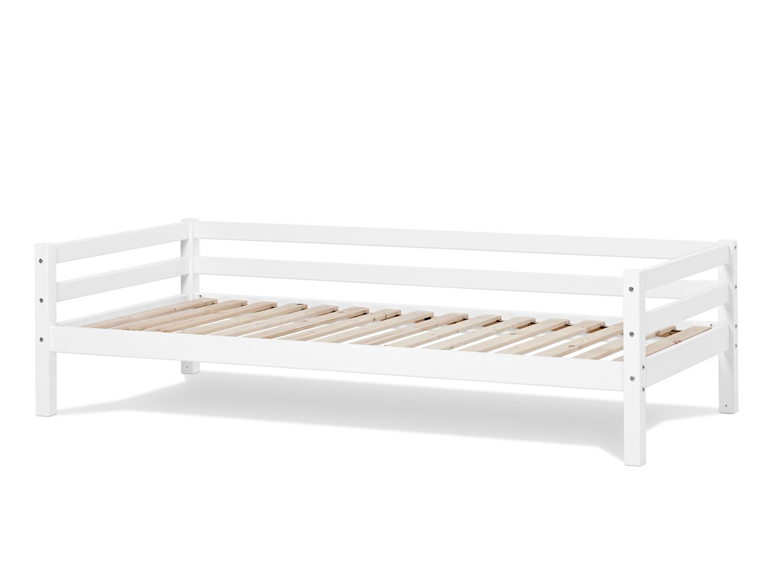 kinderbett 90x200 in kiefer massiv wei kids heaven. Black Bedroom Furniture Sets. Home Design Ideas
