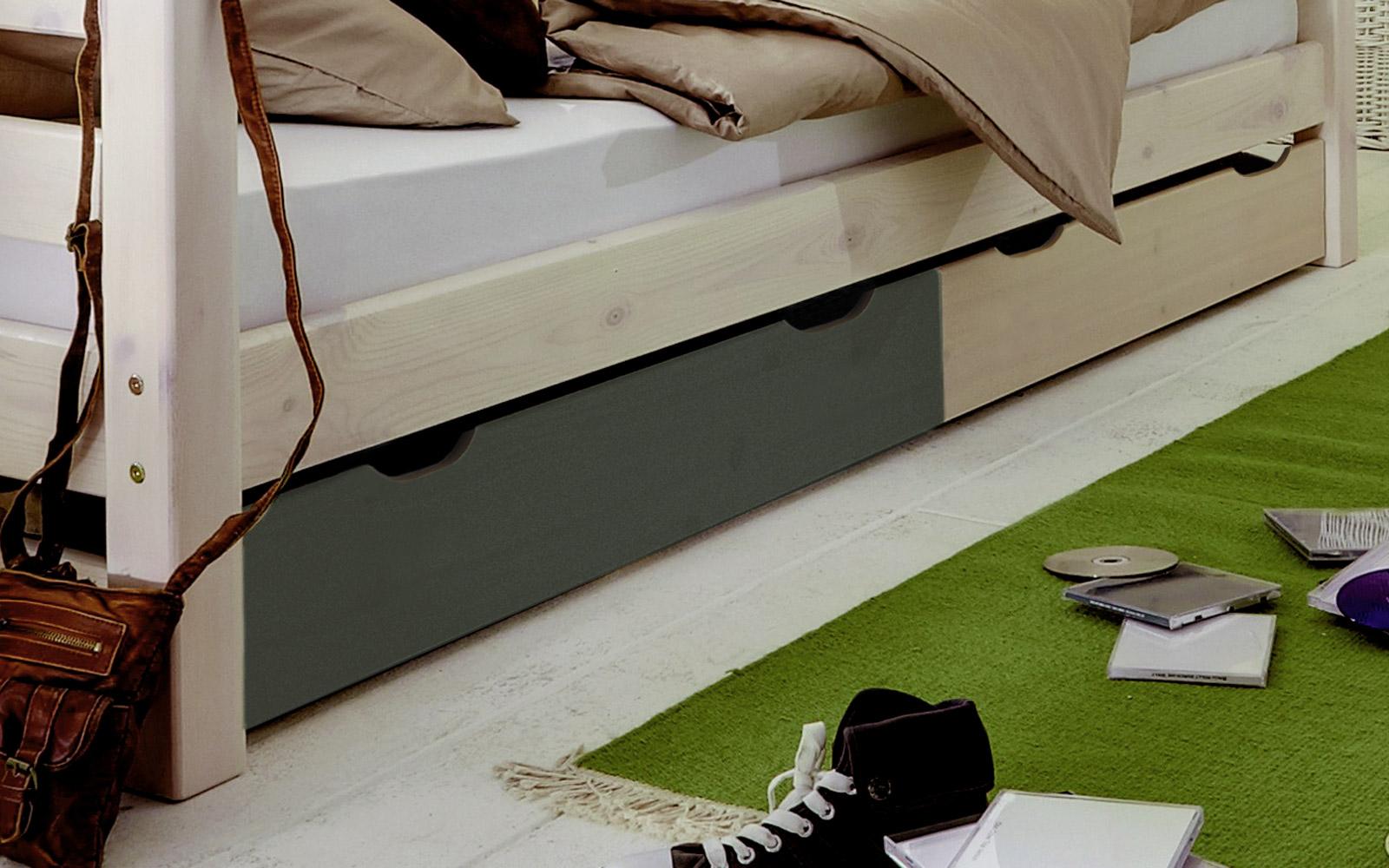 kinderbett mit schubladen aus kiefer kids paradise. Black Bedroom Furniture Sets. Home Design Ideas