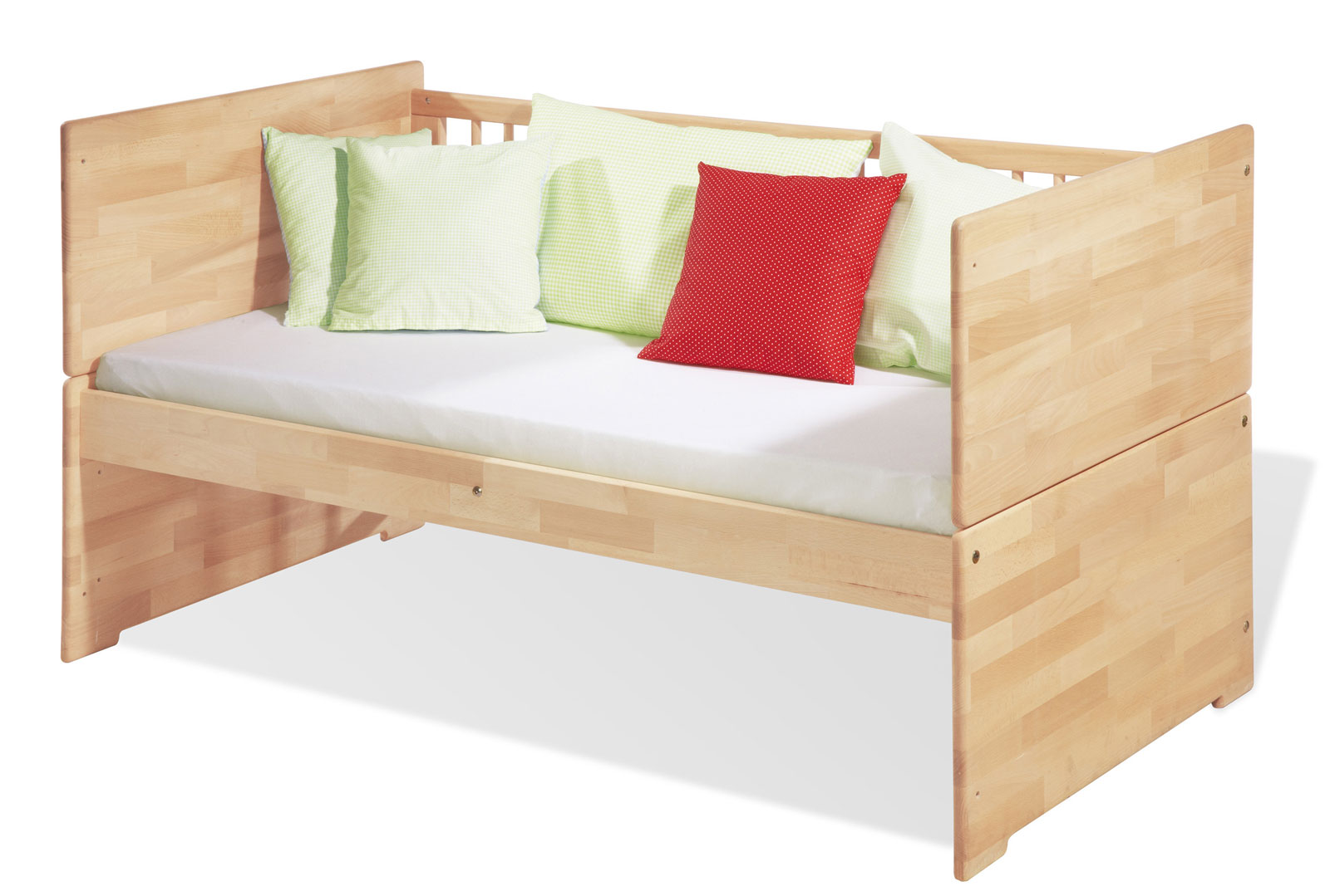 praktisches gitterbett in buche mit umbaufunktion natura. Black Bedroom Furniture Sets. Home Design Ideas