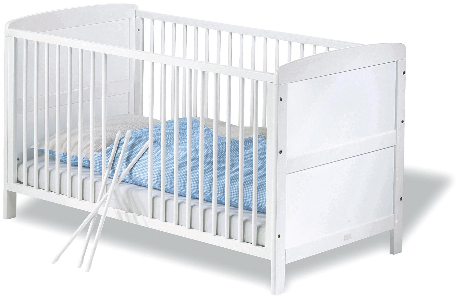 Günstiges Kinderbett Viktoria In Weiß Herausnehmbare Schlupfsprossen Ermöglichen älteren Kleinkindern Das Verlen Des Bettes
