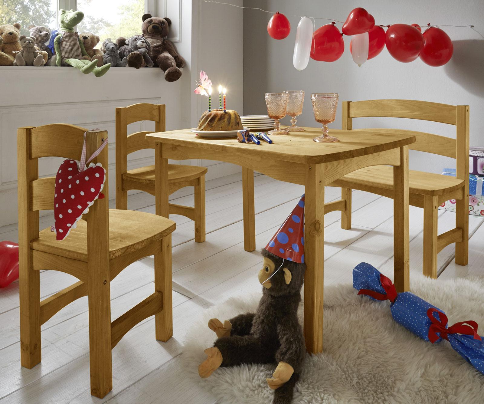 sitzgruppe f r kinder mit tisch bank und st hlen kids. Black Bedroom Furniture Sets. Home Design Ideas