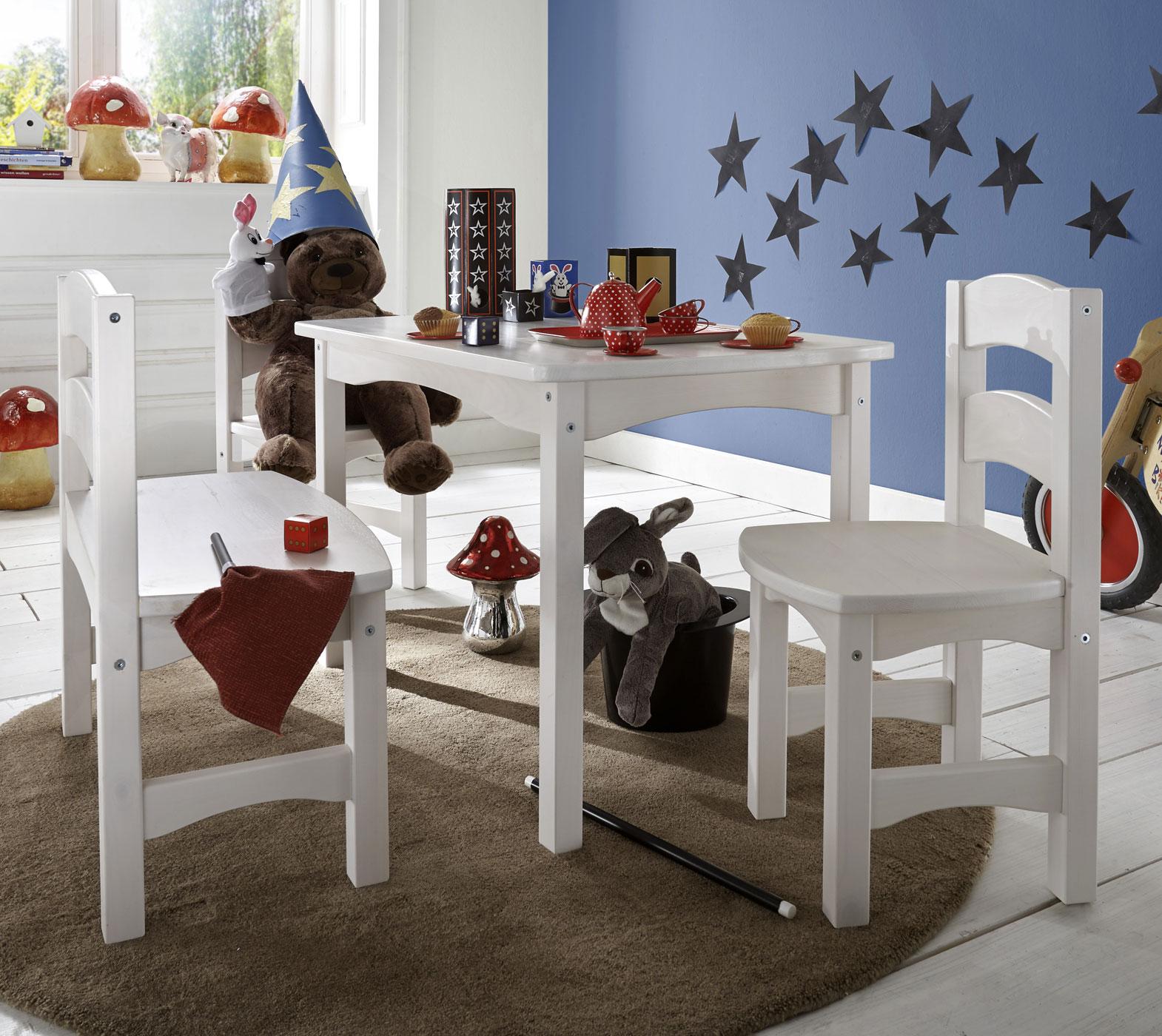 Sitzgruppe Für Kinder Mit Tisch Bank Und Stühlen Kids Paradise