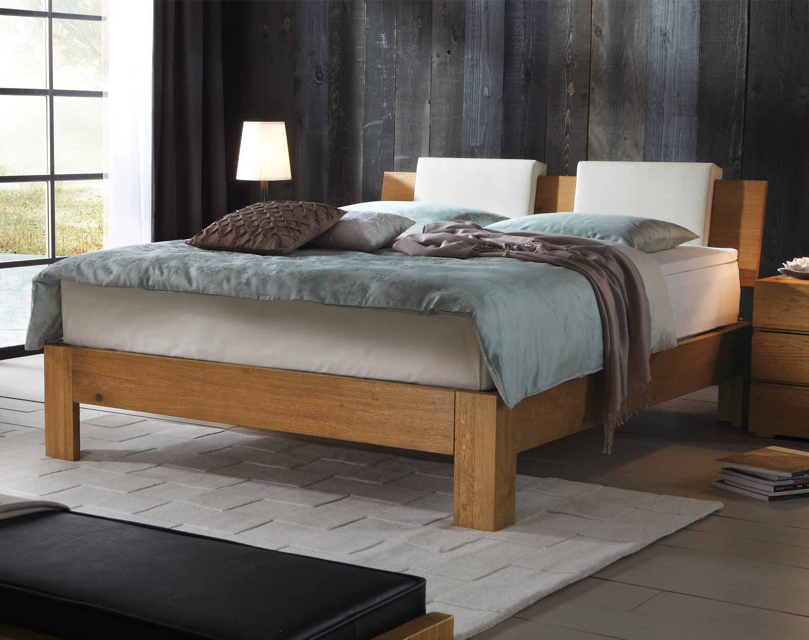 Boxspringbett Kingston aus Massivholz in Eiche | BETTEN.de