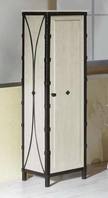 Kleiderschrank aus metall eiche mit dreht ren arica for Alternative zum kleiderschrank