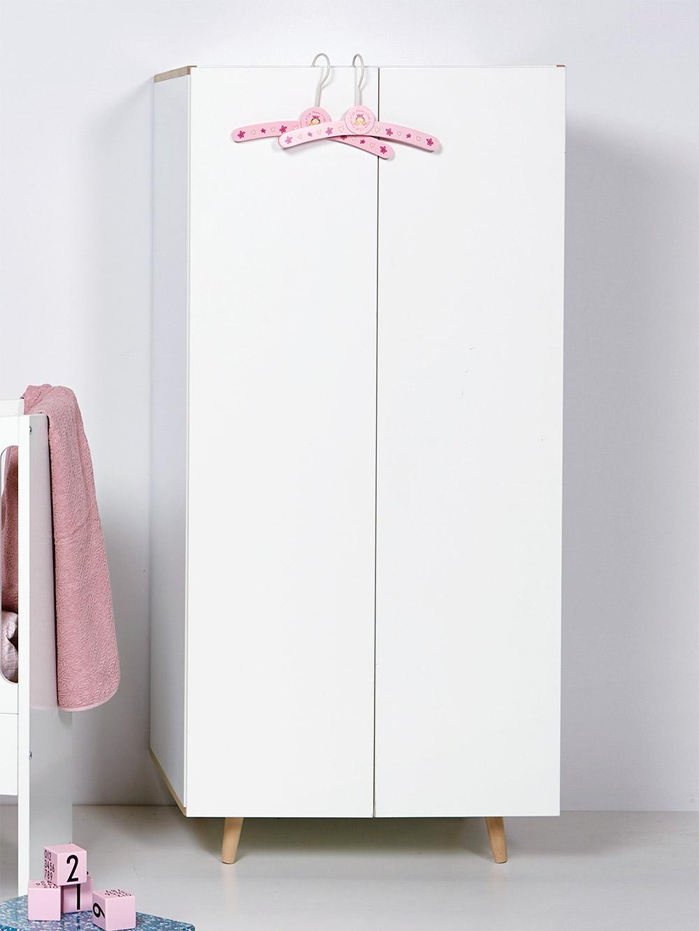 Niedriger Kleiderschrank für Babykleidung - Kids Town Retro