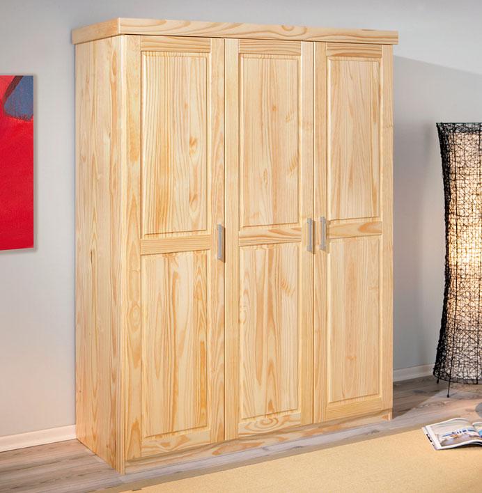 dreht ren kleiderschrank aus kiefer mit drei t ren graz. Black Bedroom Furniture Sets. Home Design Ideas