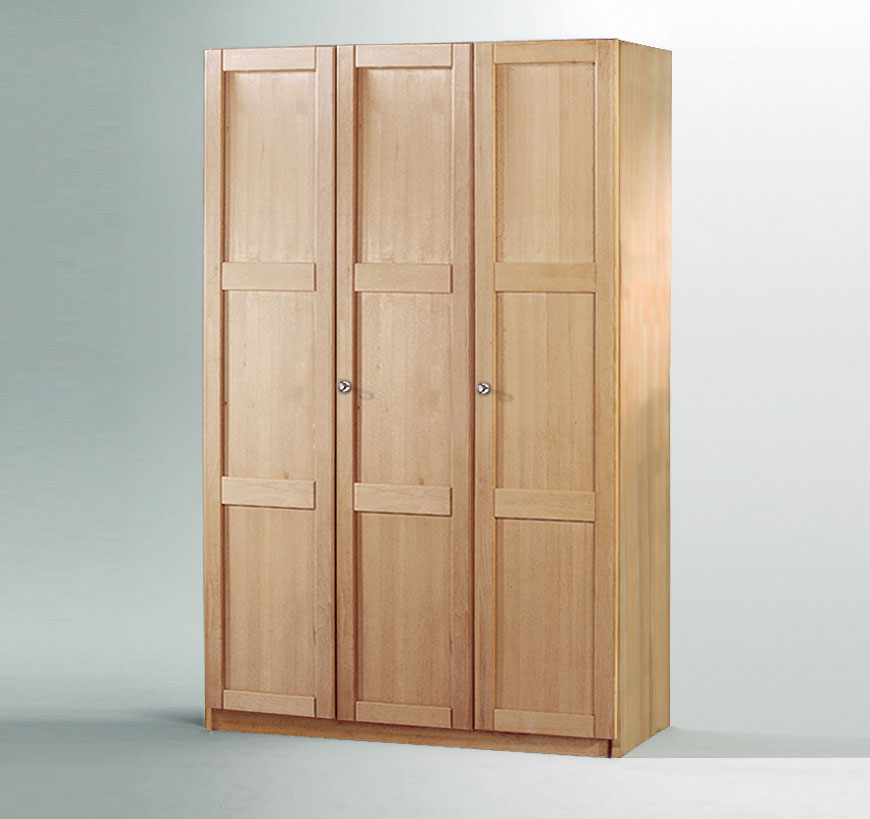 3 t riger kleiderschrank mira aus massiver buche. Black Bedroom Furniture Sets. Home Design Ideas