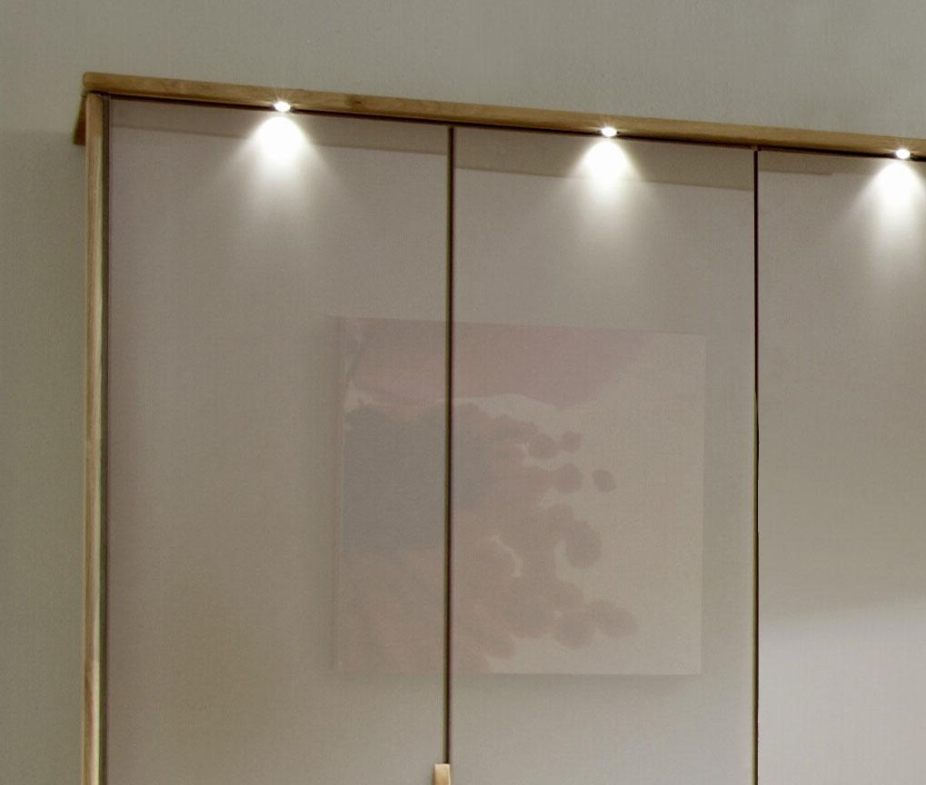 Moderner Falttüren-Schrank z.B. 3-türig mit Glas - Morley