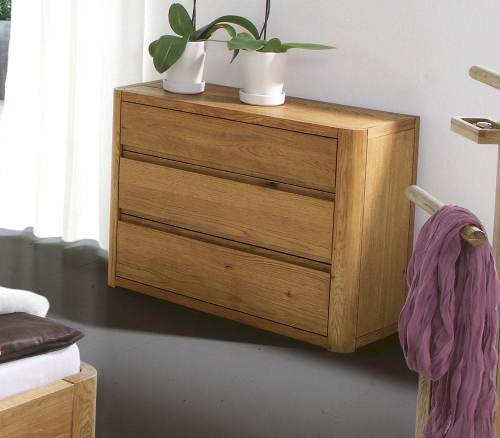 Schlafzimmer mit kommode  Massivholz Kommode aus hochwertiger Eiche - Lugo | BETTEN.de