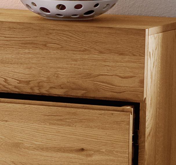 massivholz kommode aus massiver eiche mit 3 schubladen. Black Bedroom Furniture Sets. Home Design Ideas