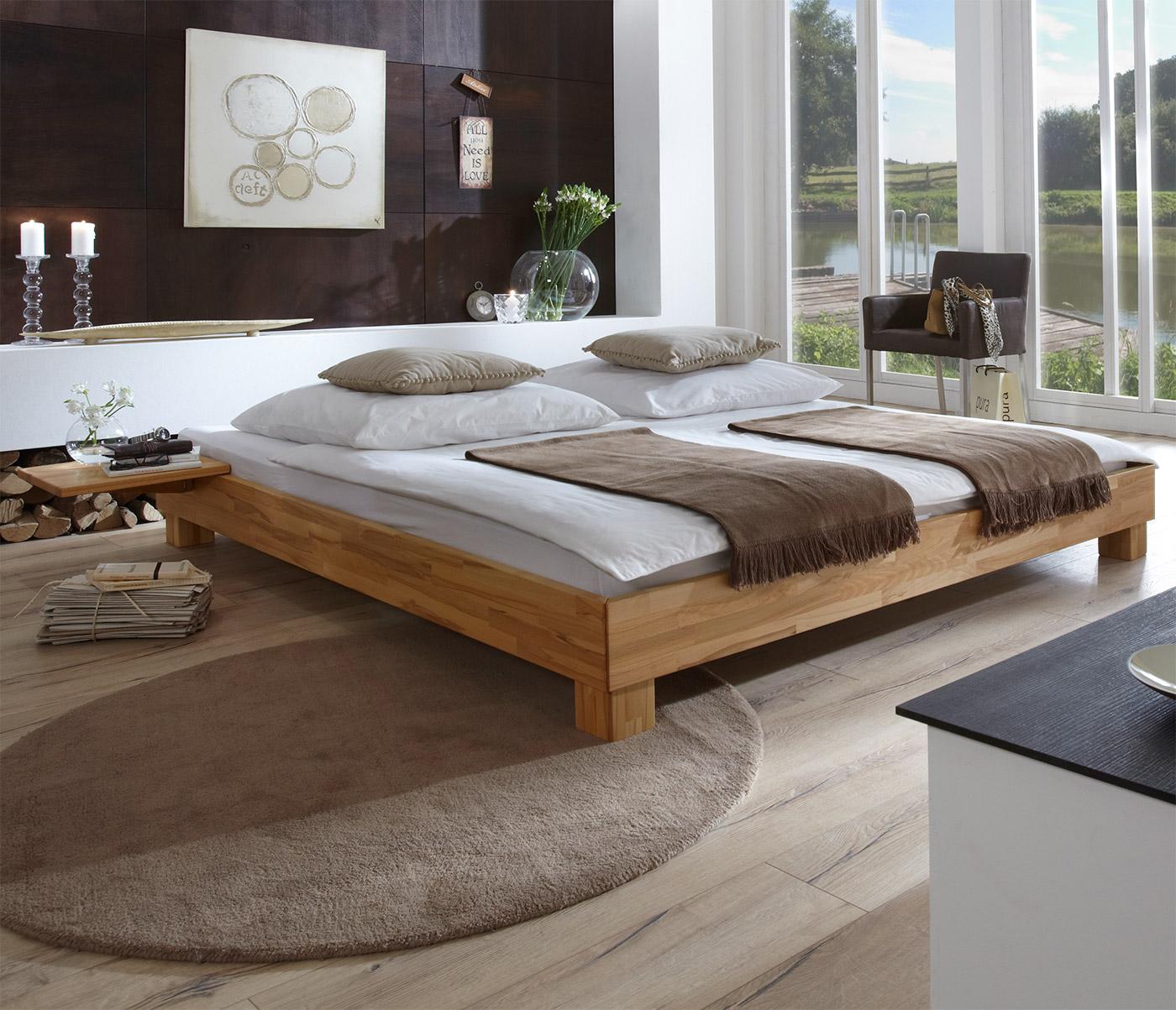 Massivholzbett in Übergrößen erhältlich - Liege Alicante