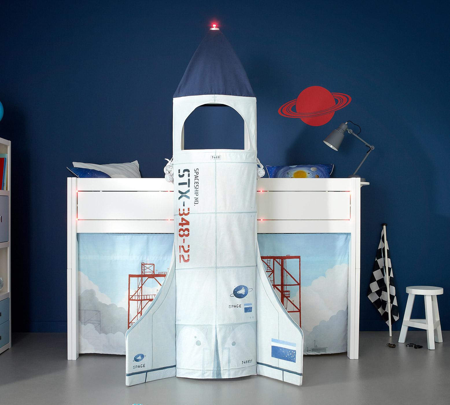 LIFETIME Kinderzimmer-Einrichtung aus Kiefer mit Raketenbett