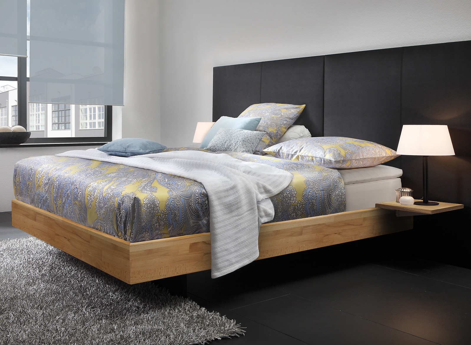 boxspringbett holz neuesten design. Black Bedroom Furniture Sets. Home Design Ideas