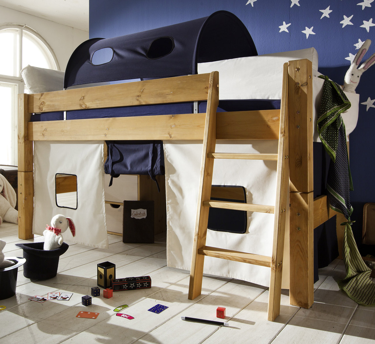 hochbett in 90x200 cm liegefl che g nstig kids dreams. Black Bedroom Furniture Sets. Home Design Ideas