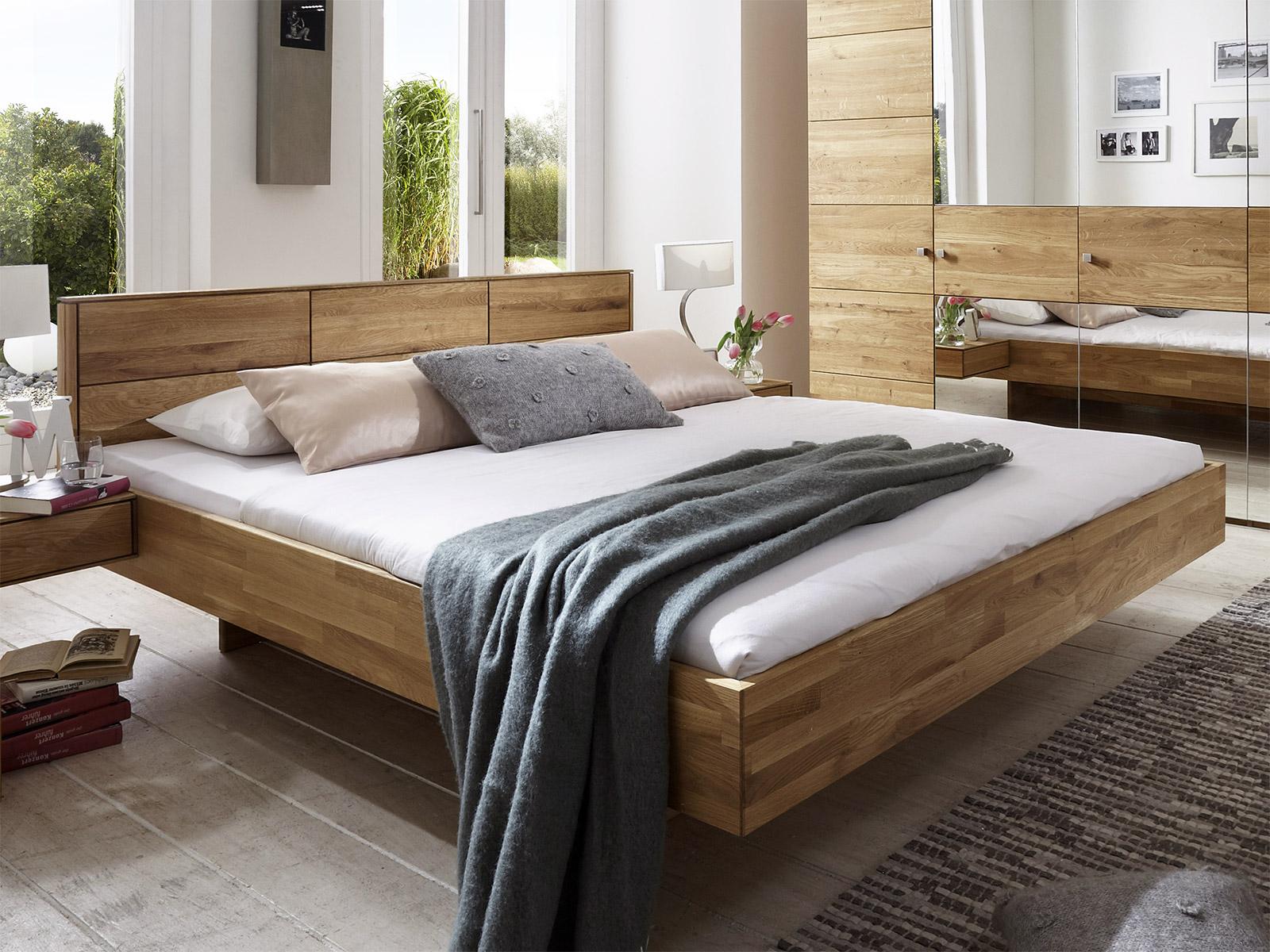 Massivholzbett schwebend  Bett schwebend in Schwebeoptik ohne Füße kaufen | BETTEN.de