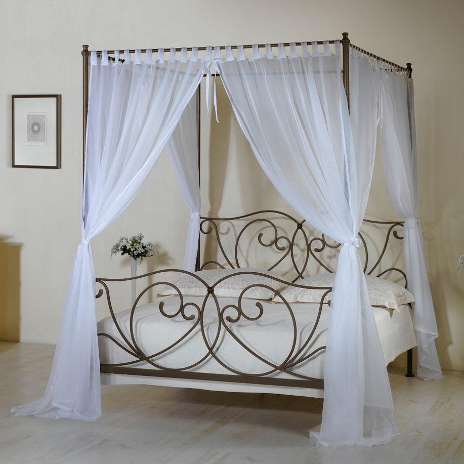 Himmelbett weiß romantisch  Metall-Himmelbett z.B. in 140x200 cm weiß - Vila Nova