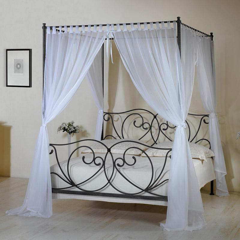 metall himmelbett z b in 140x200 cm wei vila nova. Black Bedroom Furniture Sets. Home Design Ideas