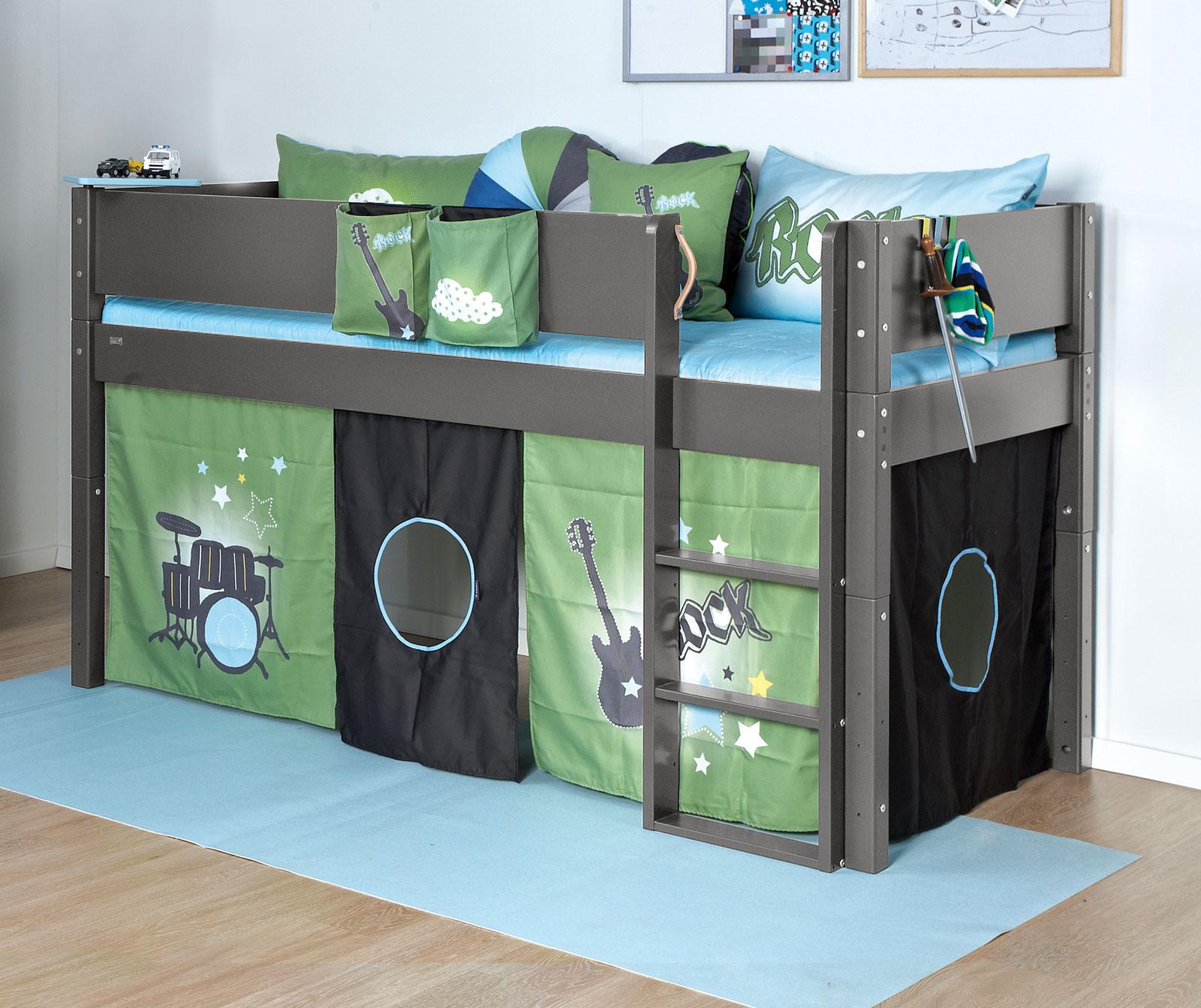 mini hochbett mit absturzsicherung gs gepr ft kids town. Black Bedroom Furniture Sets. Home Design Ideas