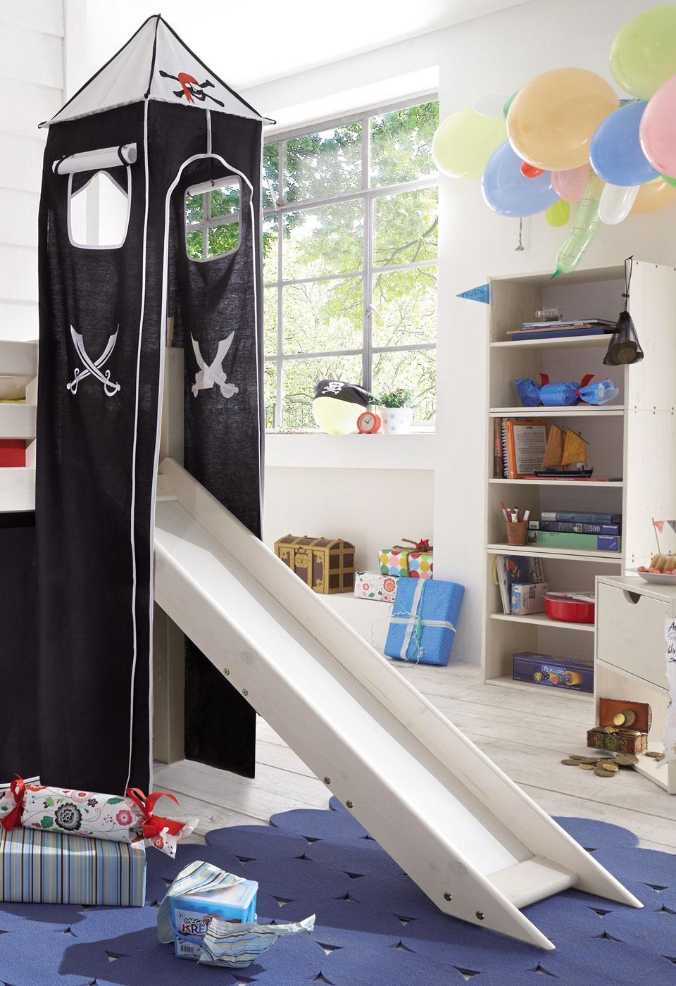 piraten mini hochbett mit rutsche kaufen seer uber. Black Bedroom Furniture Sets. Home Design Ideas