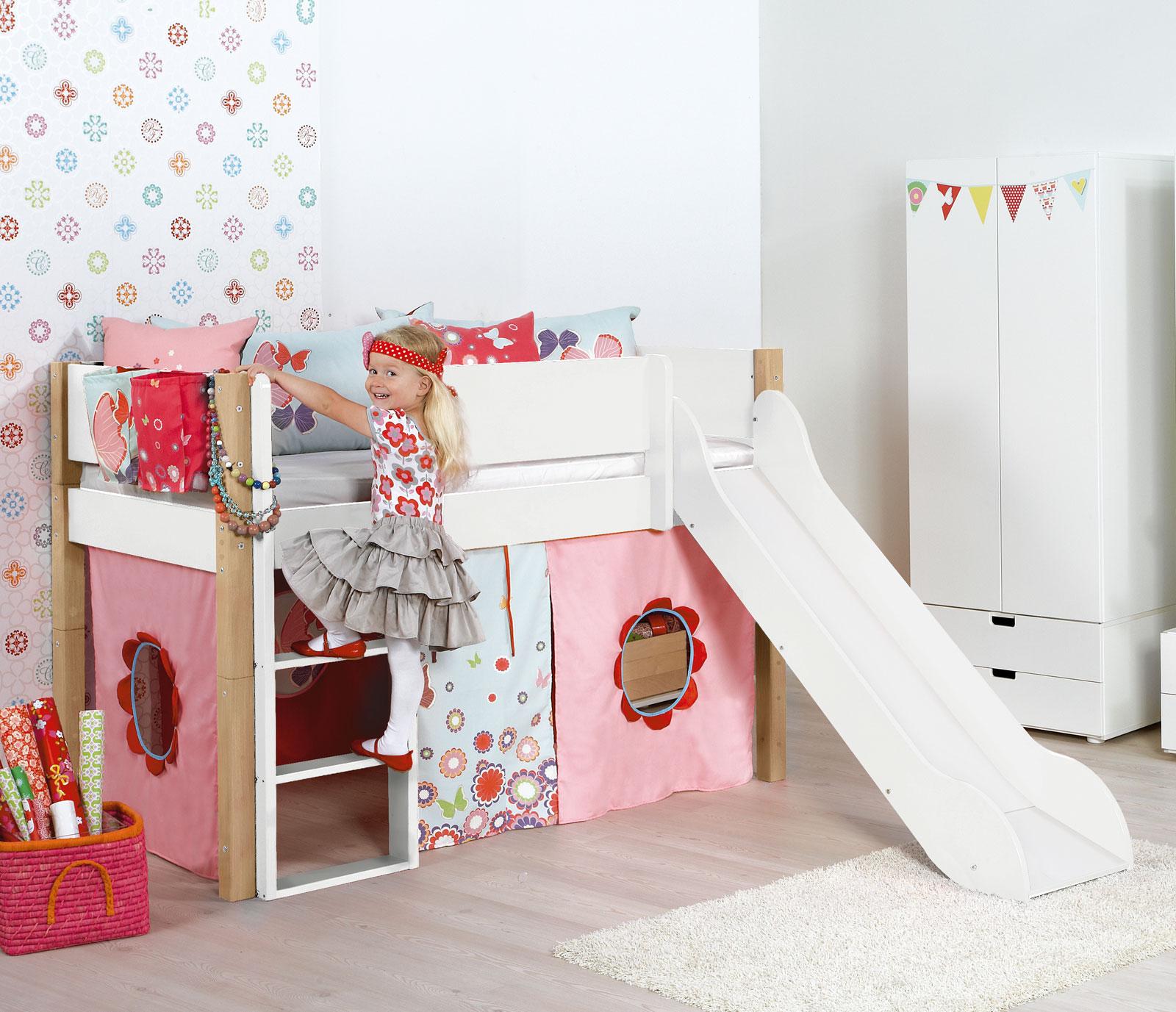 Mini hochbett mini hochbett mit rutsche t v gepr ft kids for Niedriges hochbett