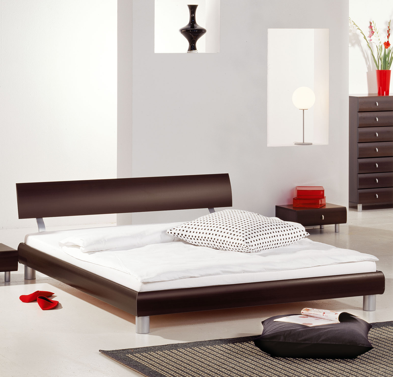 designer bettgestell z b in 140x200 cm novara. Black Bedroom Furniture Sets. Home Design Ideas