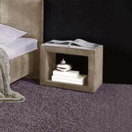 Quadratischer Nachttisch Caserta mit Glasplatte