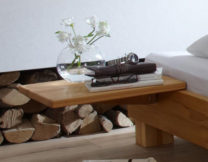 Nachttisch zum Einhängen aus Buche - Pamplona