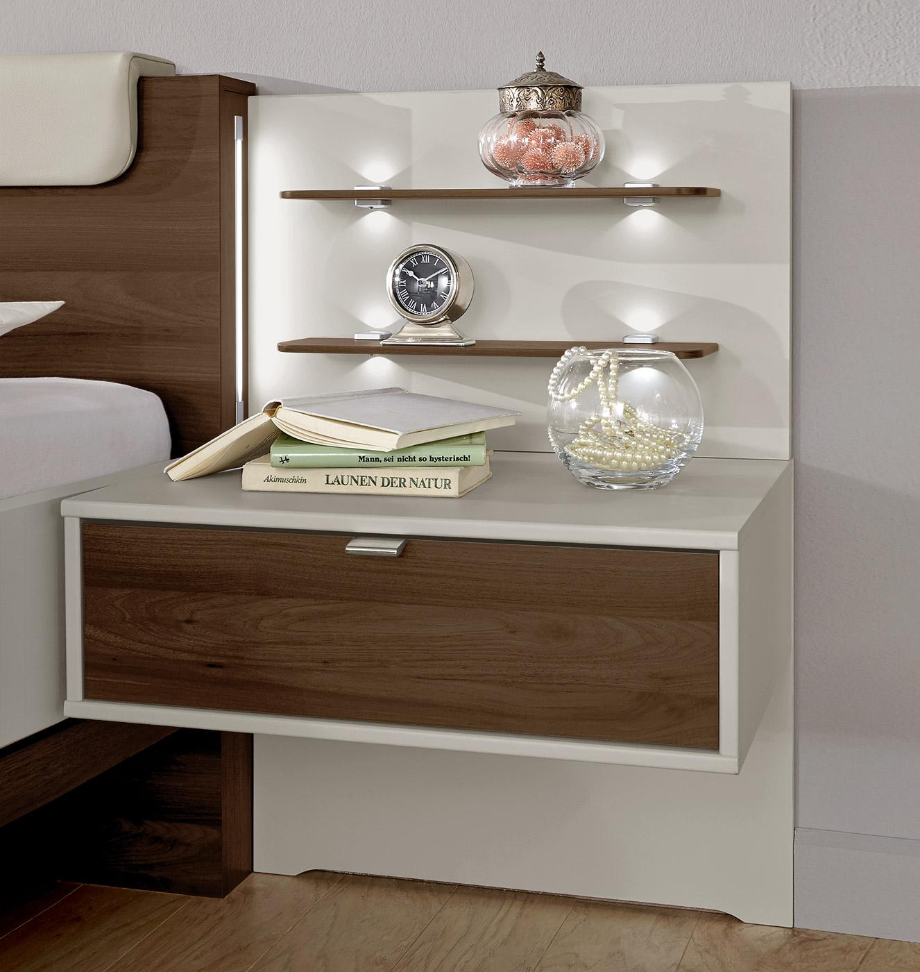 moderner schubladen nachttisch f r schweberahmenbett patiala. Black Bedroom Furniture Sets. Home Design Ideas
