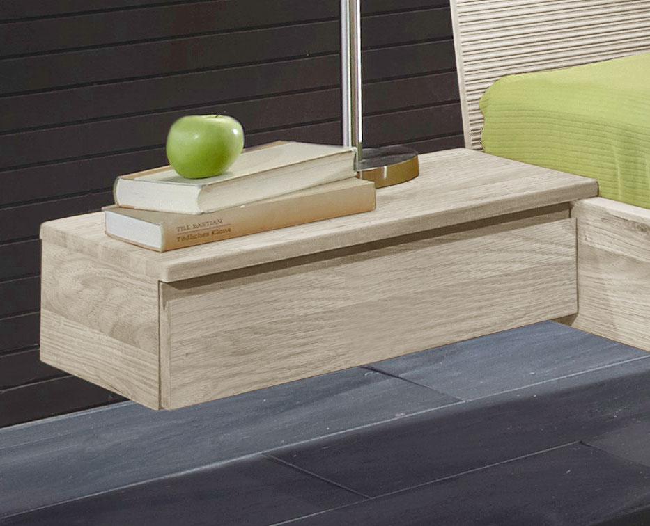 Nachttisch Aus Massivholz In Schwebeoptik - Zarbo | Betten.De