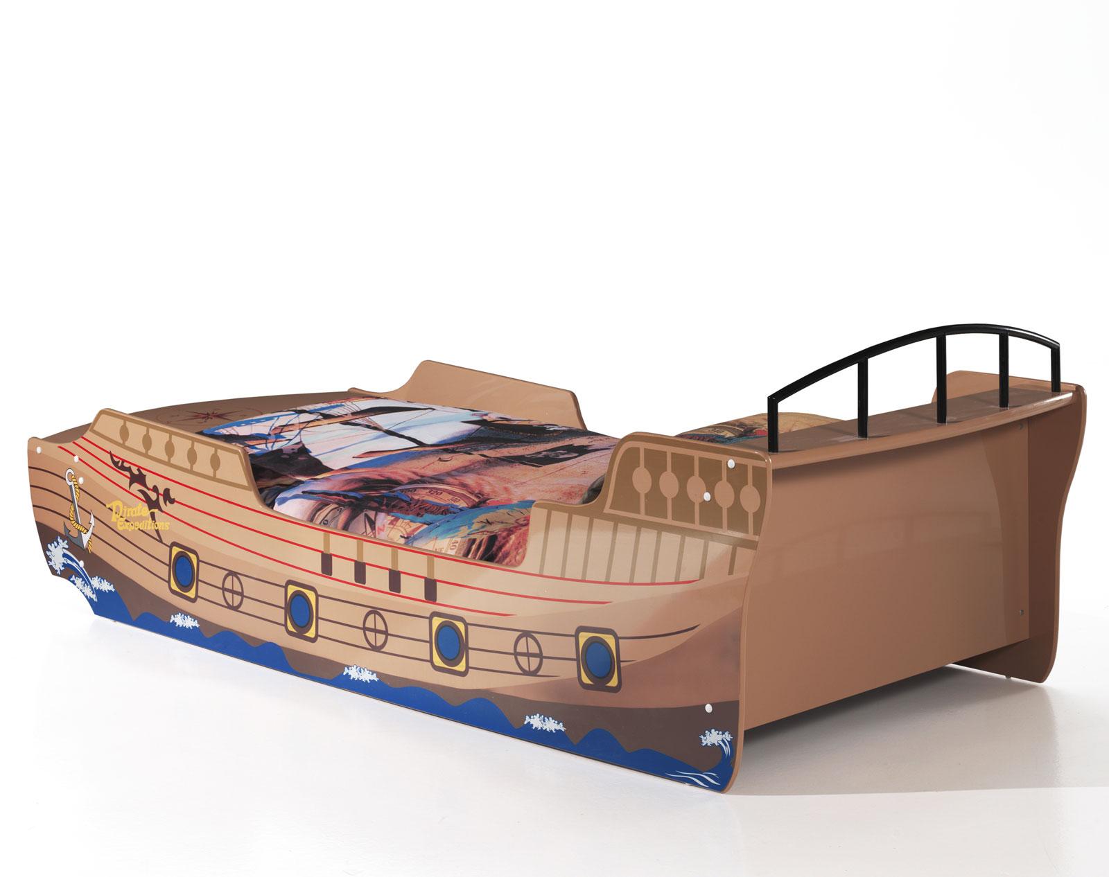 piratenschiff als bett mit lattenrost f r kinder kaufen. Black Bedroom Furniture Sets. Home Design Ideas