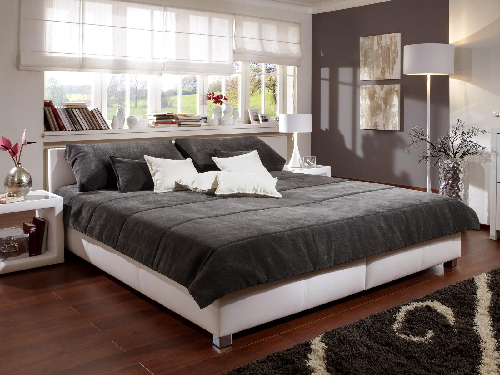 polsterbett für ihr schlafzimmer z. b. in weiß - amadeo, Schlafzimmer entwurf