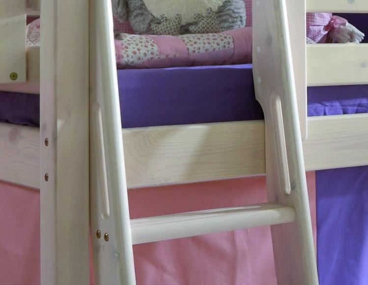 Prinzessin-Hochbett Kids Paradise in weiß inklusive Vorhang