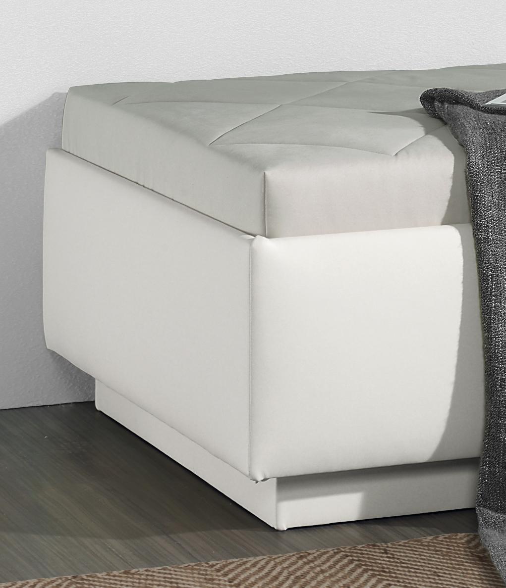 relaxliege in hochwertigem kunstleder mit bettkasten eriko. Black Bedroom Furniture Sets. Home Design Ideas