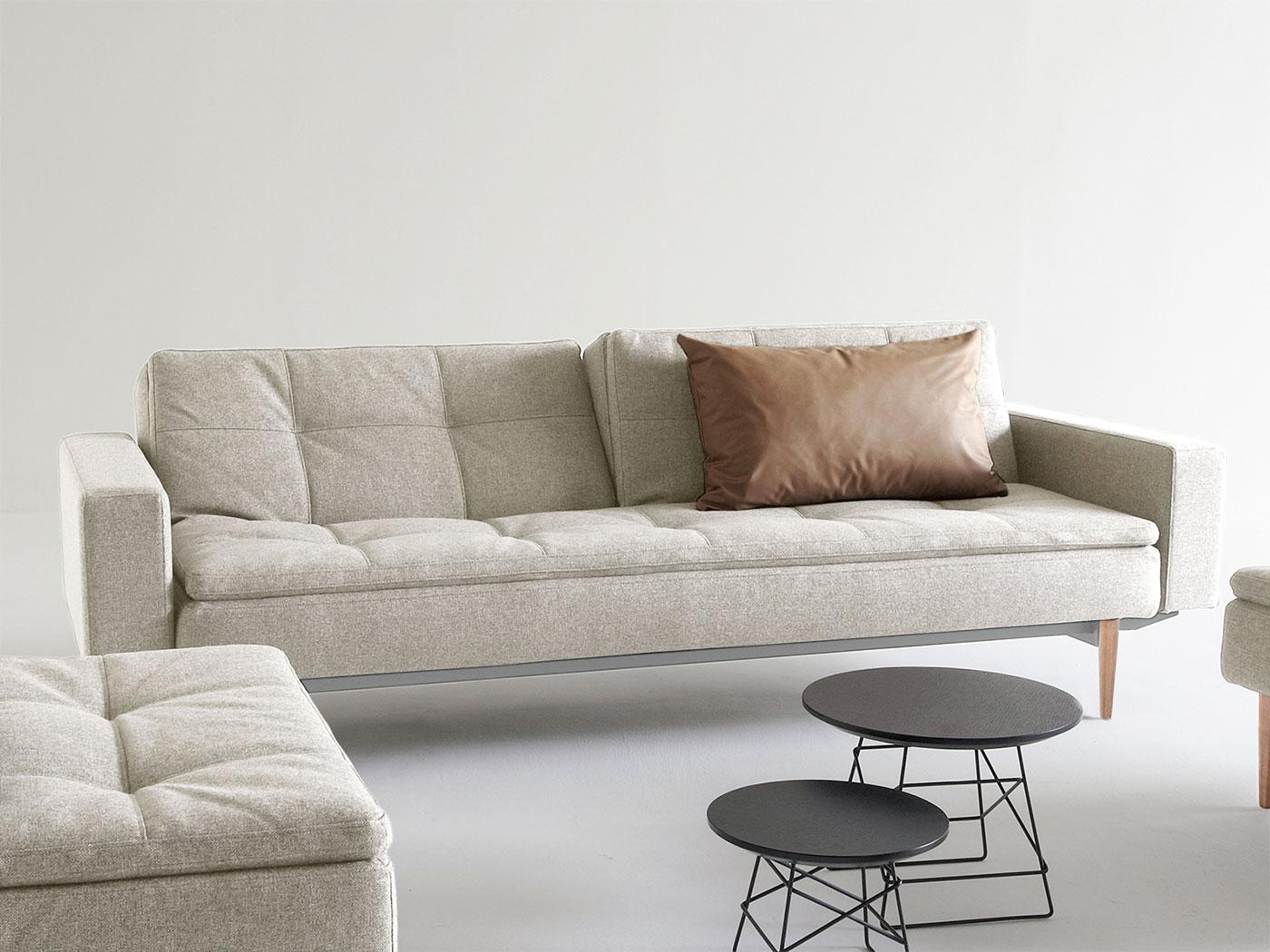 boxspring schlafsofa mit taschenfederkern und topper carol. Black Bedroom Furniture Sets. Home Design Ideas
