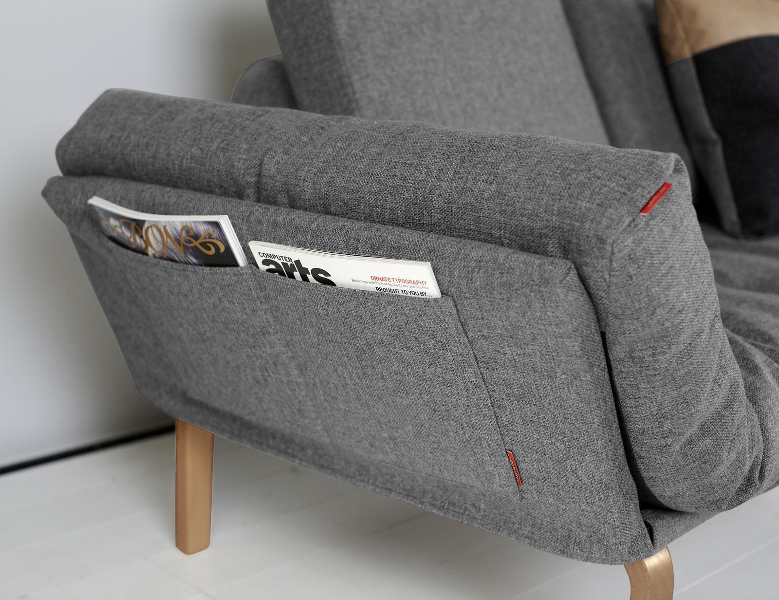 der optionale gestellbezug wartet mit zwei praktischen taschen je seite auf - Eckschlafsofa Die Praktischen Sofa Fur Ihren Komfort