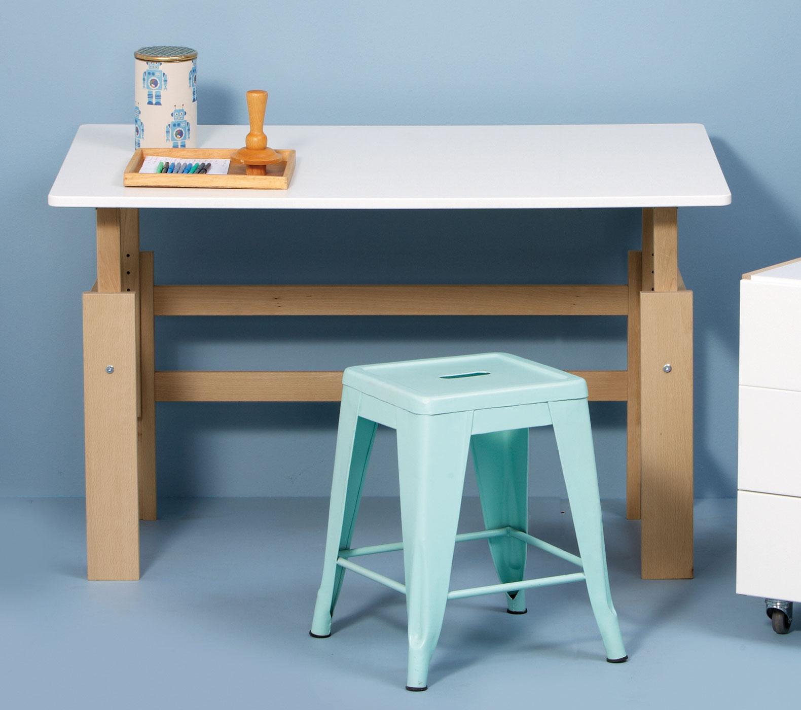 Kinderschreibtisch design höhenverstellbar  Höhenverstellbarer Kinder-Schreibtisch aus Buche - Kids Town