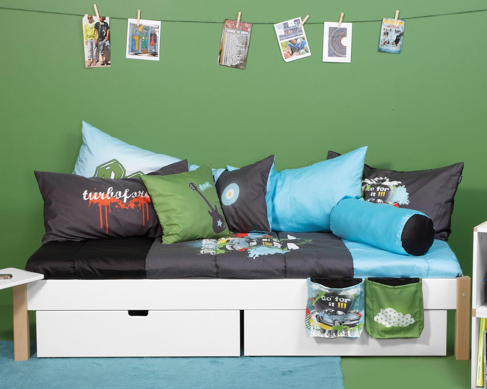 Schubkastenbett für das kinder  und jugendzimmer   kids town