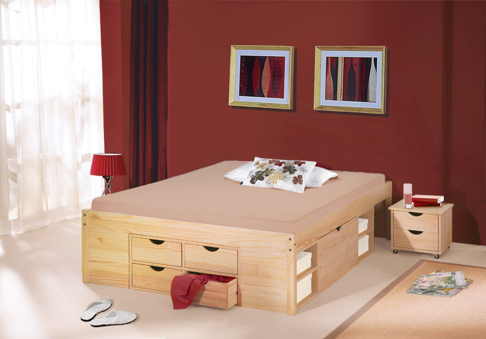 doppelbett 140x200 mit lattenrost auf raten. Black Bedroom Furniture Sets. Home Design Ideas
