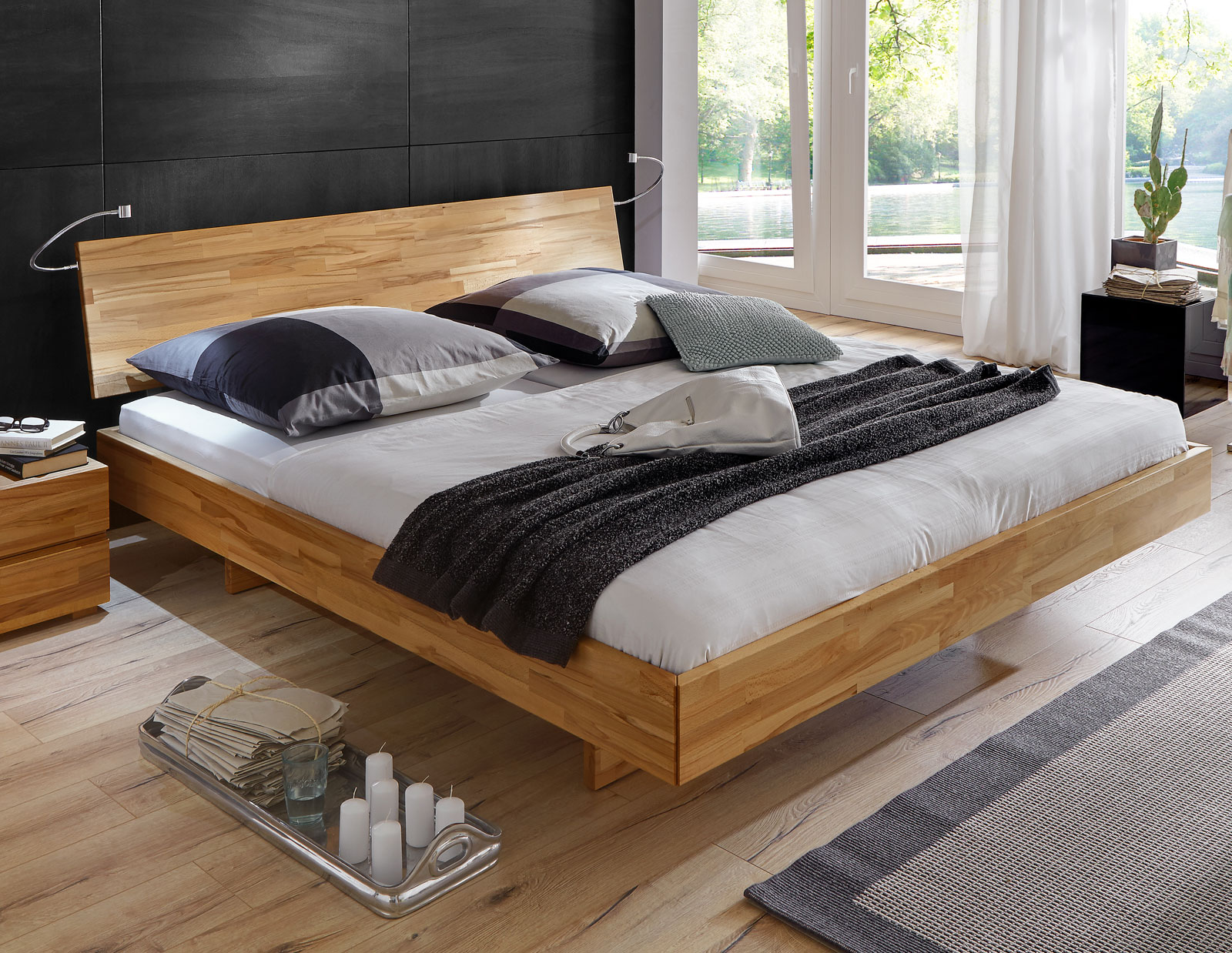 bequemes bett rimini aus hochwertigem buchenholz. Black Bedroom Furniture Sets. Home Design Ideas