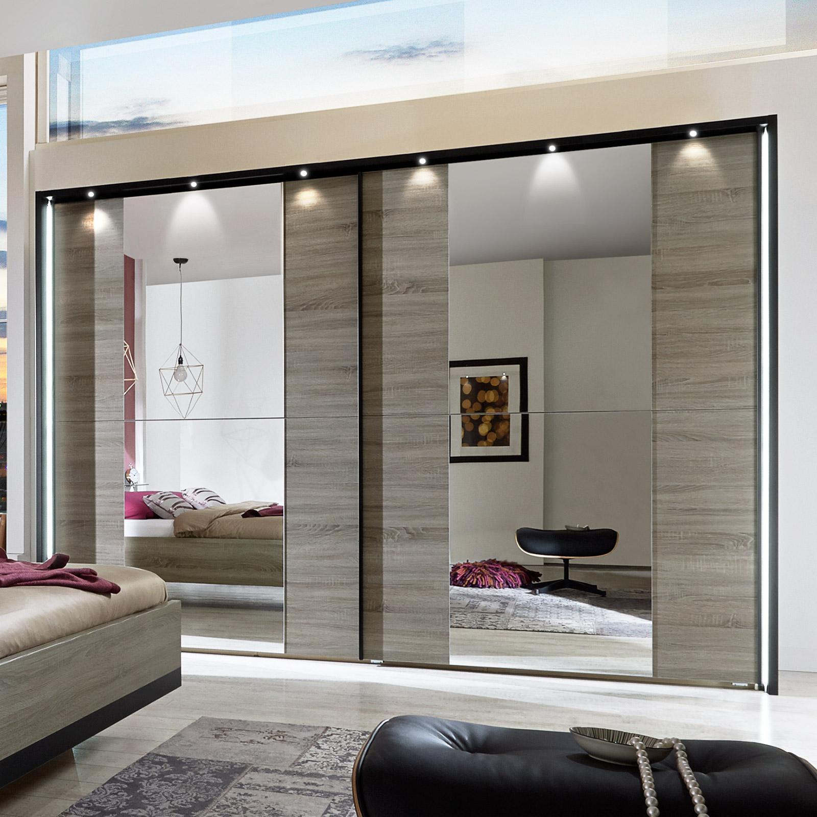 moderner schlafzimmerschrank mit schiebet ren und spiegel. Black Bedroom Furniture Sets. Home Design Ideas