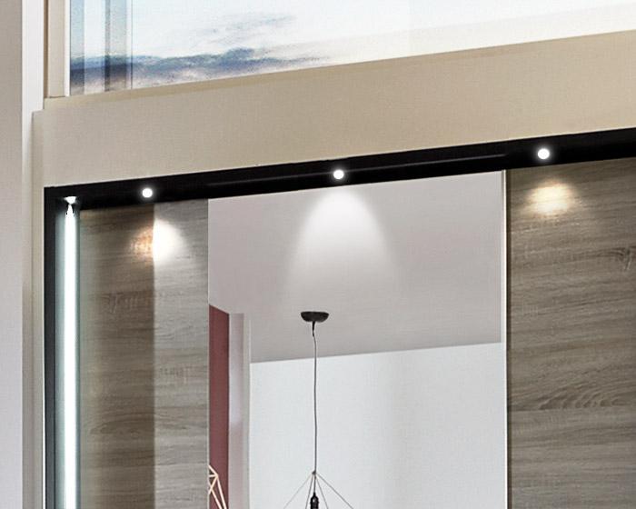 Moderner Schlafzimmerschrank mit Schiebetüren und Spiegel - Korba
